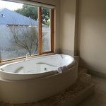 Luxurious stone bath spa tub