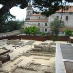 Archeological excavations behind the castle