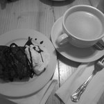 Chocolate and nut Brownie and Butter Coffee