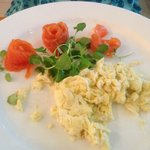 Scottish smoked salmon and scrambled eggs