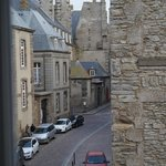 A view of some ancient and not so ancient buildings in the beautiful St, Malo
