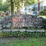 This is the front of the stone bench