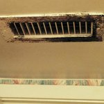 Mold on every vent in the suite