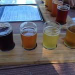 Sampler of the current beer choices - be jealous