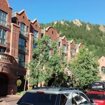 View of mountainside from south side of hotel