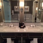 Two sinks in the Waldorf Suite bathroom.