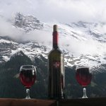Swiss Wine & Eiger View...Life is Good!!