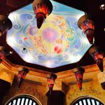 Ceiling view in the Cheesecake Factory