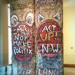 Two sections of the Berlin Wall on display