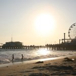 The Santa Monica pier, steps away from the hotel