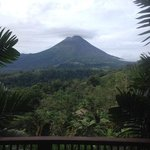 view from our balcony of the volcano
