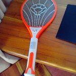Racket in every room against Moskitos, I killed 30 in an evening, terrible!