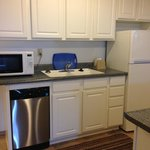 one of the updated condo kitchens--these vary by unit