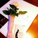 A beautiful rose + shopping map, i give a 5 stars service  to their Service Stylist Sumati  Kamo