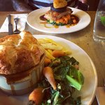 Pie and pork belly