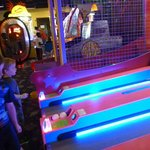 Skee ball in the game room