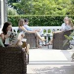 The Patio & Porch offer wonderful areas to lounge and enjoy the serenity