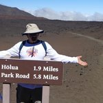 on our way back up from the crater