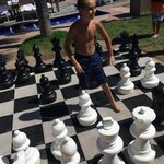 Chess by the poolside