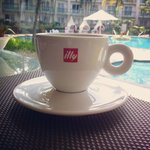 Illy coffee for breakfast!