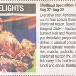 Chettinad Delights at The Park New Delhi!
