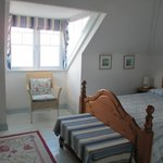 Charming upstairs bedroom with view