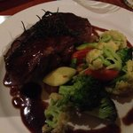 Australian beef sirloin and vegetables