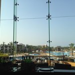 View from the bar over the enormous pool