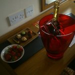 Requested champagne and treats