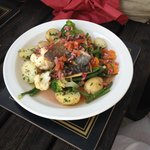 """""""Catch of the Day"""" served with Fresh Seasonal Veg & New potatoes"""