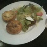 2 M ini quiche and side salad