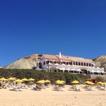 The Telheiro restaurant from the fabulous local beach. They do a mean OJ