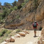 Hiking the South Kaibab Trail into the canyon
