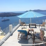 Own private balcony over looking The Caldera