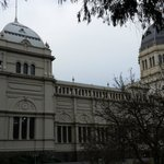 side view of the Royal Exhibition Buildings