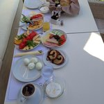 Organic breakfast served at the balcony of your room
