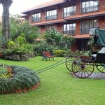 The gardens of the Norfolk hotel in Nairobi.