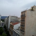 The view from breakfast room towards Parliament/Syntagma Sq