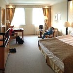 The spacious room