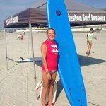 My first surf lesson