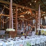 A wedding in our Civil War era barn.