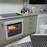 full kitchen with oven