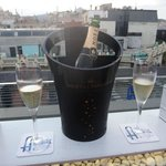 Champers on the roof top