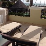 Huge balcony space in preferred club master suite ocean front view rooms, hot tub jaccuzzi, show