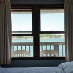 Sitting on the bed looking at the view, great sleep with sound of the ocean