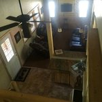 Cabin 31 - view of living room / kitchen from loft