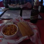 Tamale, rice and beer