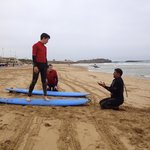 Lesson with the patient and wise surf instructor Said.