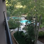 Oh wait there is the pool...when I hang my head off the balcony. Room 461.