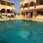 swimming pool and rooms